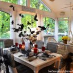 Halloween Tablescape-with Crow Tree-Centerpiece