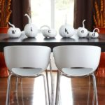 Halloween tablescape with wicked pumpkins