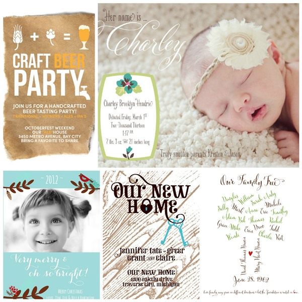 Invitations and More From Small Moments