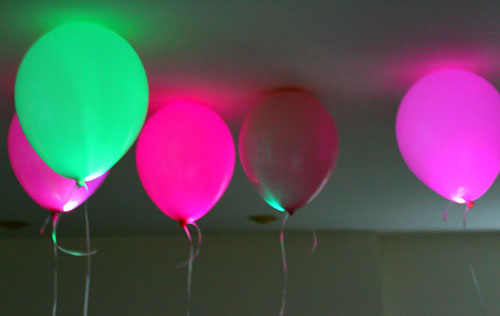 LED Balloon for a Glow Party