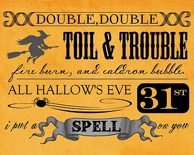 Love this Vintage Halloween Sign printable