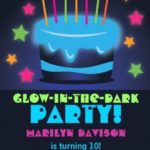 Neon Glow In The Dark Invitation