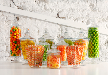 Orange and green Candy Buffet