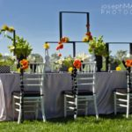 Orange and green modern wedding
