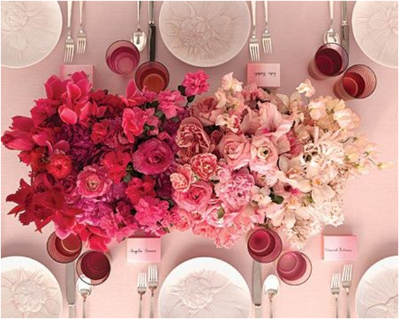 Pink Ombre Party Centerpieces