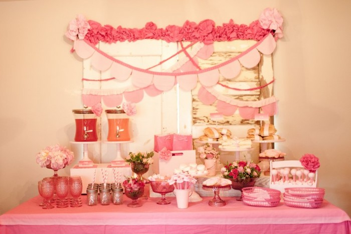 Pink Ombre Party Drink Station
