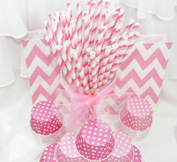 Pink Ombre Straws
