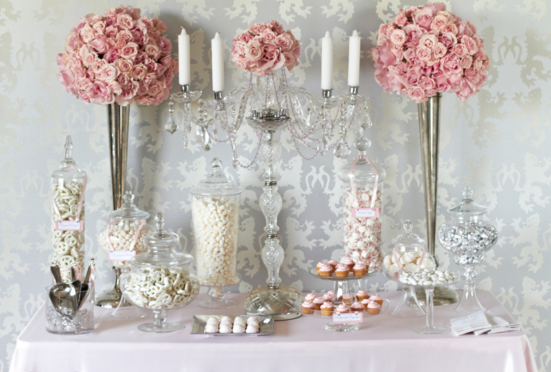 A wedding candy buffet table is a star attraction at any wedding party