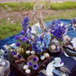 Purple And Blue Tablescape