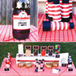 Red striped Pirate Party