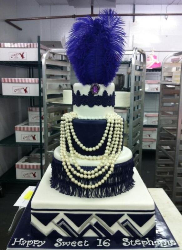 Roaring 20s Sweet 16 cake