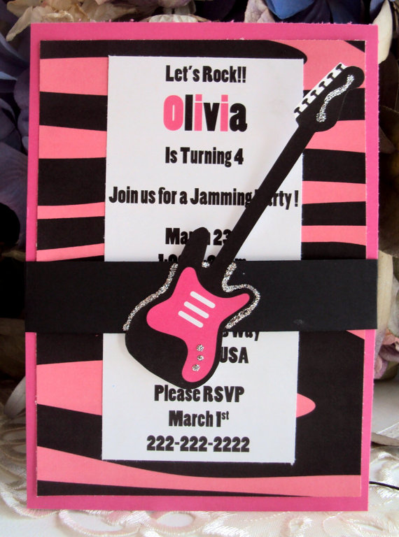 Rockstar party invitations