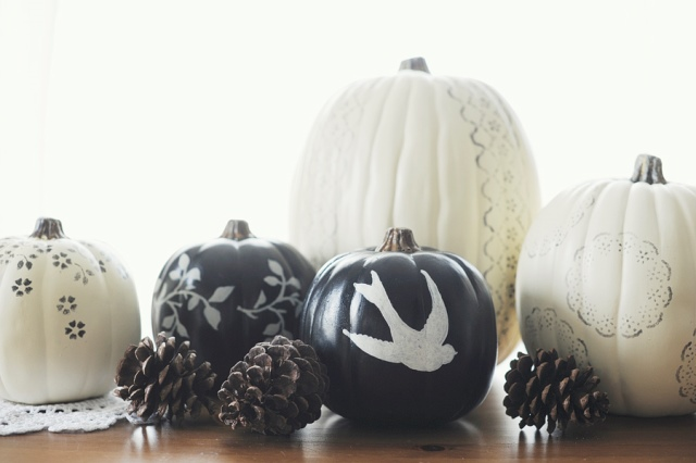 So Pretty are these Painted Pumpkins!