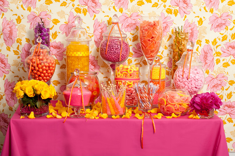 Super Floral Candy Buffet