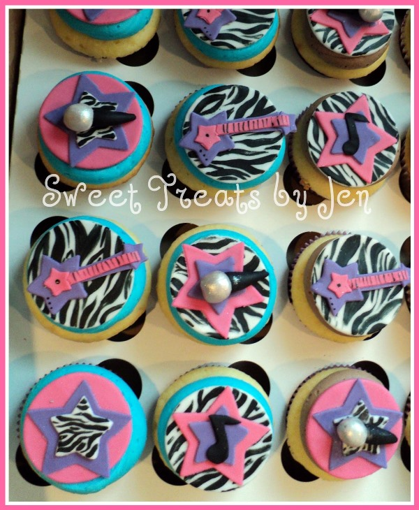 Sweet rock star cupcakes