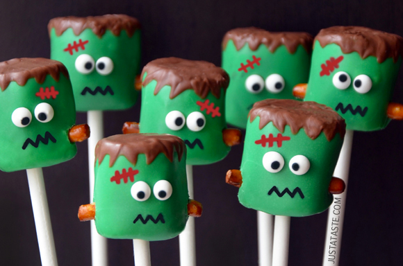 Too Cute Frankenstein Cake pops