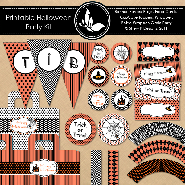 Entire Set Of Free Halloween Printables