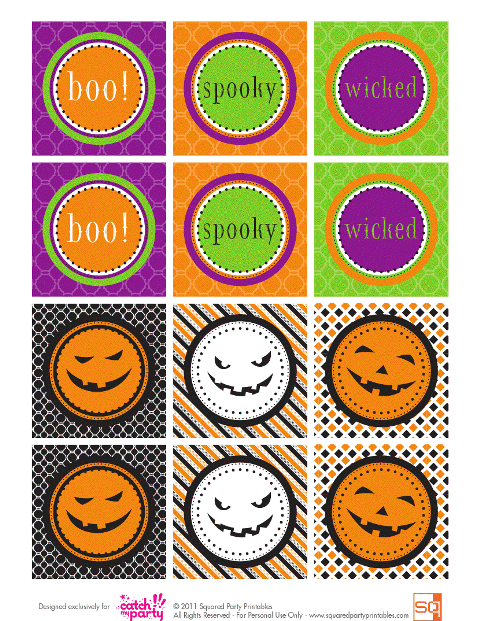 free halloween party circles Printables