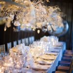 White and Silver Hanging Orchid Centerpieces