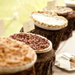 Amazing rustic pie dessert station