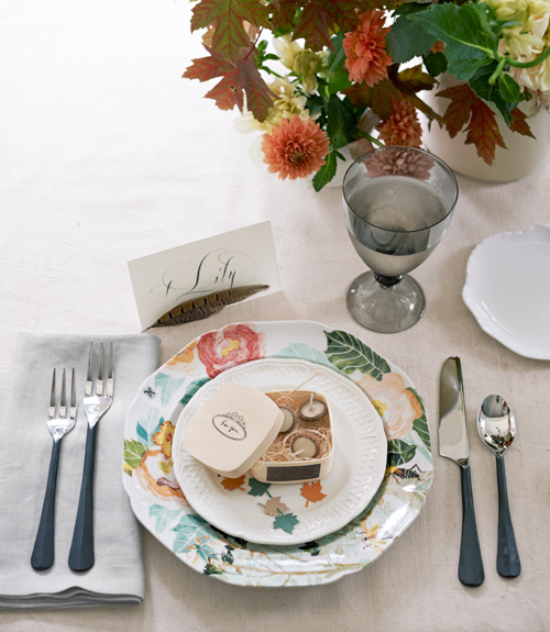 Acorn Thanksgiving Placesetting