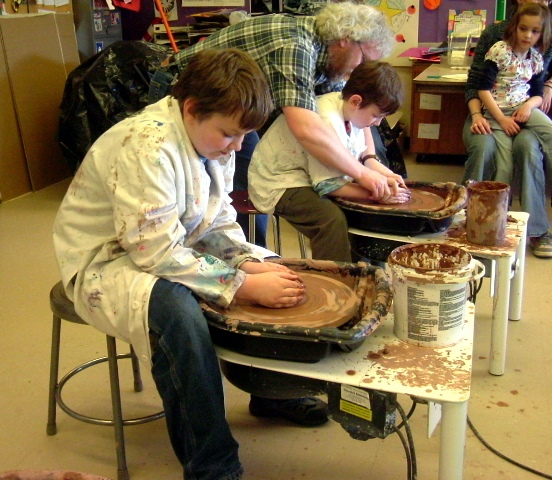 Childrens birthday pottery class
