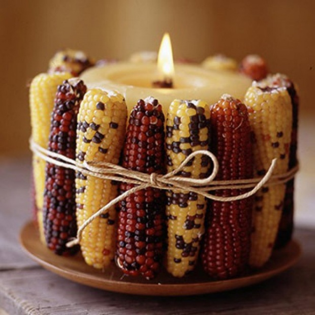 Rustic And Chic Indian Corn Decorations! - B. Lovely Events