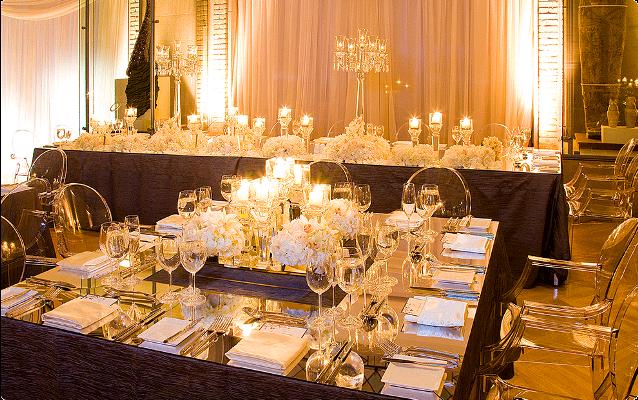 Crystal themed wedding