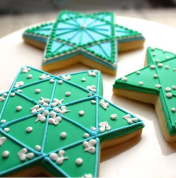 Cute Hanukkah star of david cookies