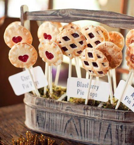 Cute display of pie pops!