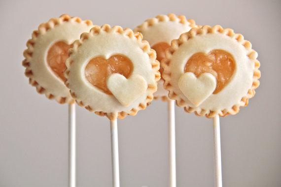 Cute heart pie pops