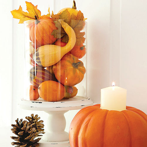 Thanksgiving pumpkin centerpieces b lovely events for Simple pumpkin centerpieces