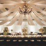Elegant Draped Fabric Reception