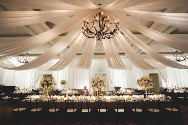 Elegant Draped Fabric Reception