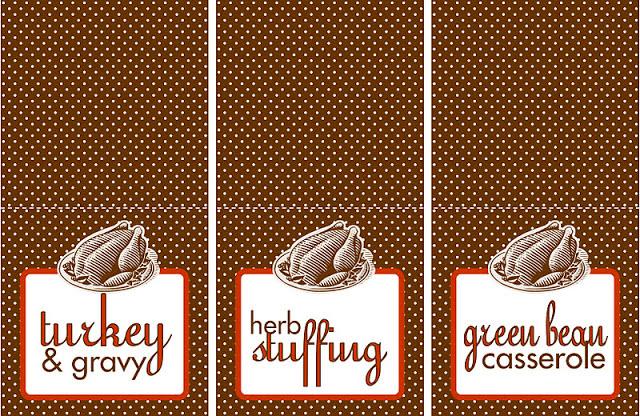 Free Printable Thanksgiving Food Labels