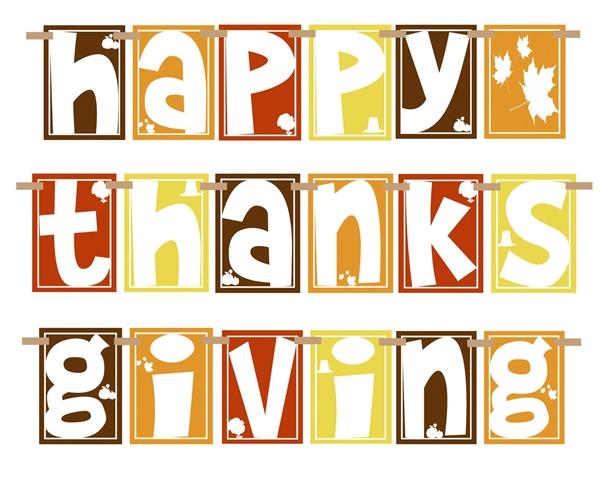 Free Thanksgiving Printable Banner