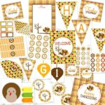 Free Thanksgiving printable huge set