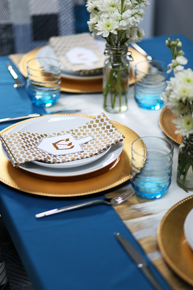 Hanukkah Tablescape