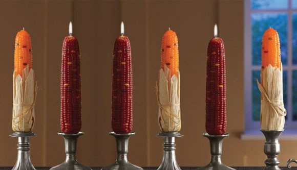 Indian corn candles