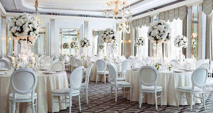 Luxury Wedding Venues: Luxury White Wedding-B. Lovely Events