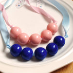 Pink and blue necklaces