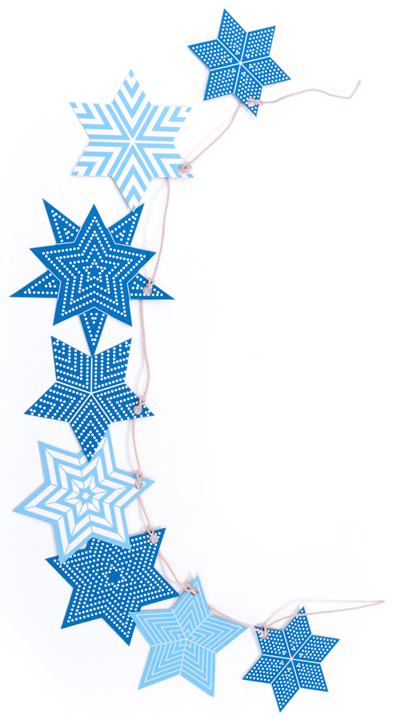 Star of david Hanukkah garland