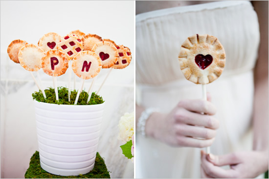 Wedding pie pops