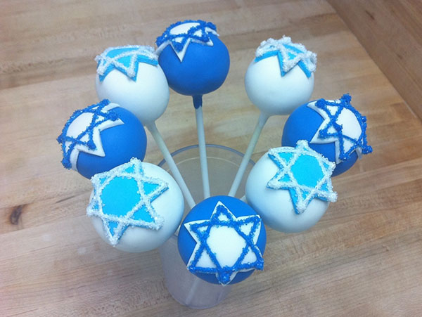Star of Daivd Hanukkah cake pops