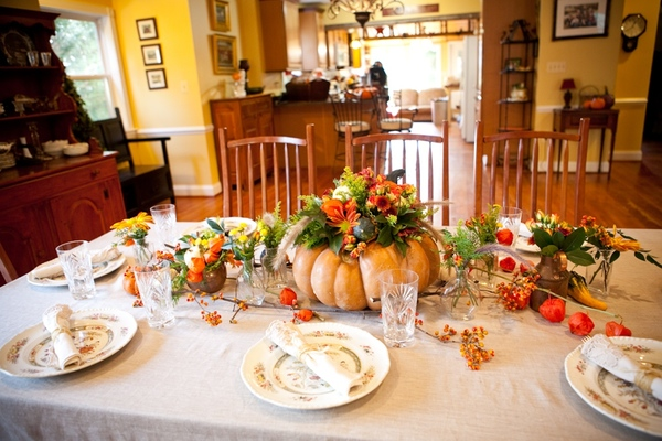 Thanksgiving pumpkin centerpieces b lovely events