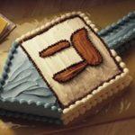 hannukah dreidel cake