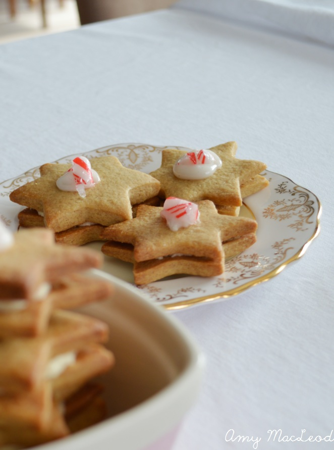 peppermint star of David Cookies for Hanukkah!