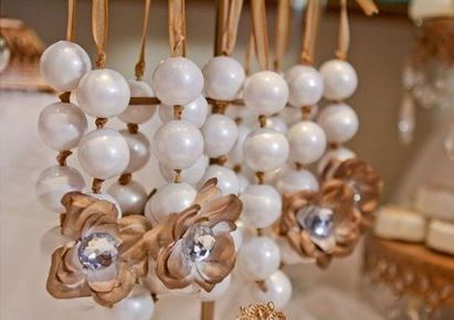 pretty brown and white Gumball necklaces