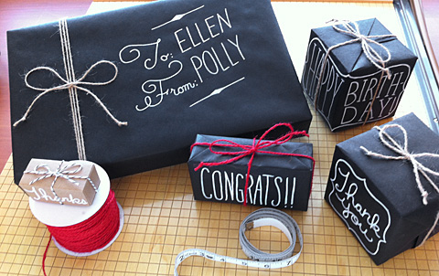 Chalkboard wrapping for Christmas!