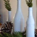 Easy and cute evergreen Christmas centerpiece